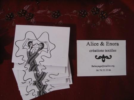Nos petites cartes de visite!